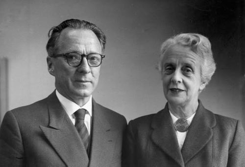 Clarence Edward Beeby and his wife Beatrice