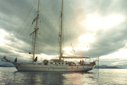 A 1996 photograph of the Spirit of Adventure, designed by John Balmain (Jack) Brooke