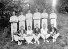 'Froggy' de la Mare in a cricket team