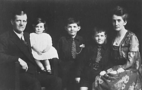 James Fletcher (left) and his family