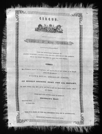 Foley's Royal American Circus advertisement