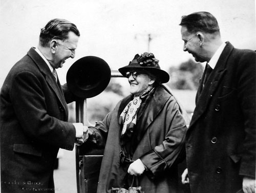 Sidney George Holland (left), Miss Betsy Webber and Theodore Nisbet Gibbs