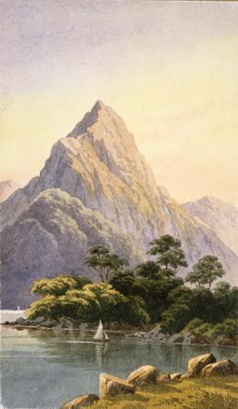 Mitre Peak, Milford Sound, by John Barr Clark Hoyte