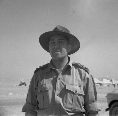 Wiremu Te Tau Huata in Egypt, 21 August 1943