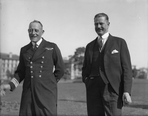 John Henry Rushworth Jellicoe (left) and Joseph Gordon Coates