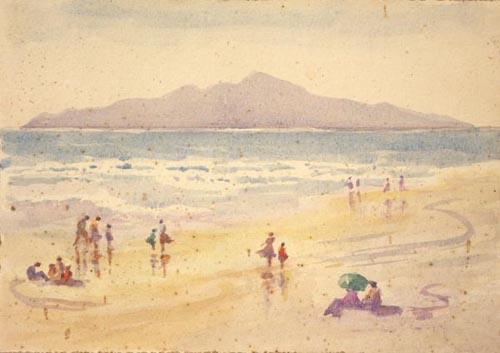 Kāpiti Coast, about 1900, by James McLauchlan Nairn