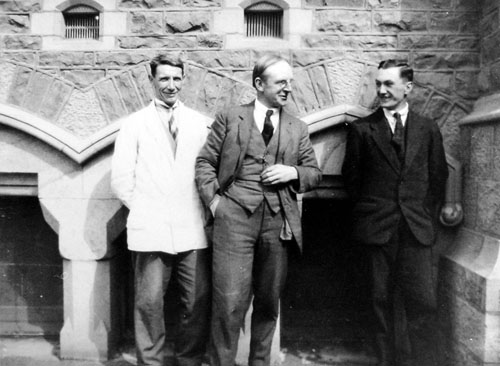 Francis Shurrock (left), Richard Wallwork (centre) and James Cook (right)