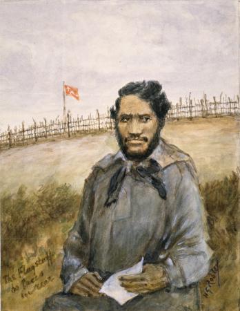 Watercolour portrait of Henare Wiremu Taratoa by Horatio Robley