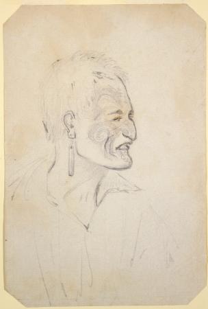 Te Horeta sketched by Charles Heaphy