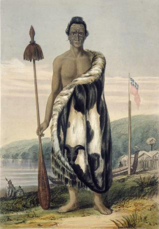 Portrait of Honiana Te Puni-kokopu, by Charles Heaphy