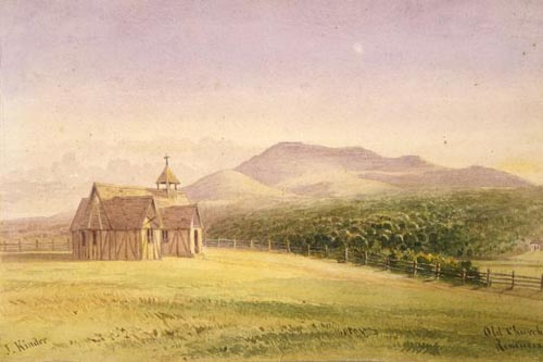 Painting of St Mark's Chapel, Remuera, by John Kinder