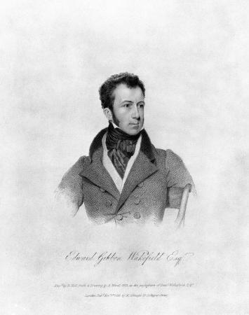 Engraved portrait of Edward Gibbon Wakefield, 1826