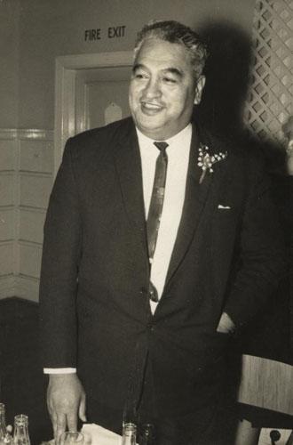 Puti Tipene (Steve) Watene speaking at his son's wedding, 4 June 1966