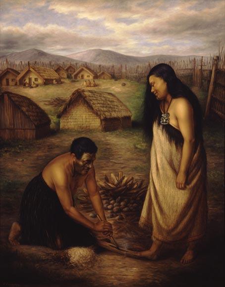 Māori fire-making kit