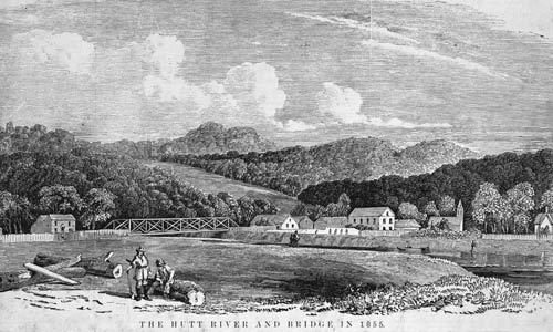 Hutt River bridge, 1855
