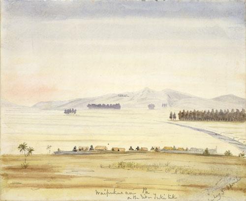 Waipukurau pā, about 1858