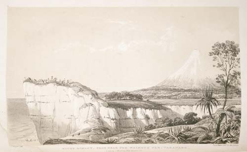 Mt Taranaki (Mt Egmont) from Waimate pā