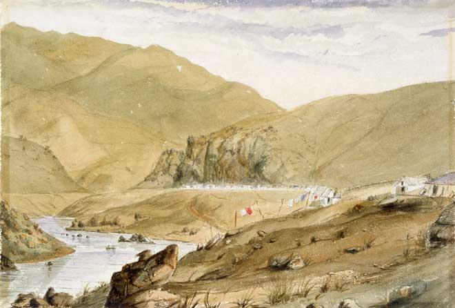 Gold-mining village, Clutha River
