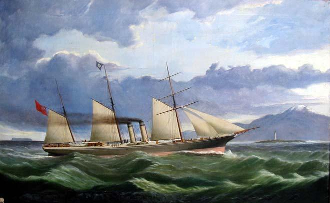 Aldinga speeding for Bluff, 1865
