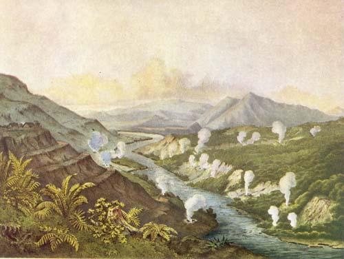 Ōrākei Kōrako thermal area, 1859