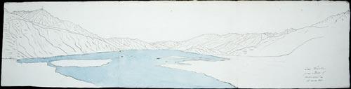 'Lake Wanaka from the entrance of Makarora'