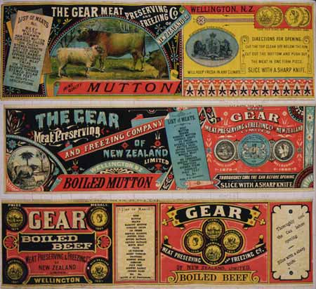Gear Meat Company labels, 1890–1920