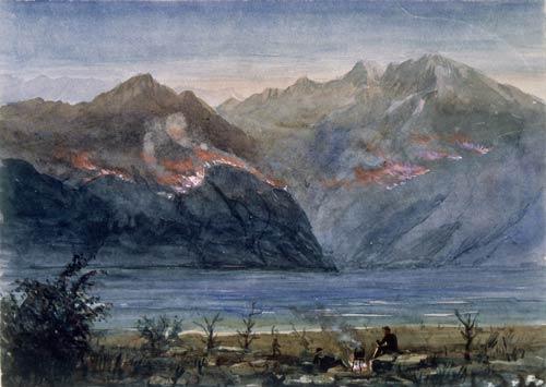Tussock burning, 1882