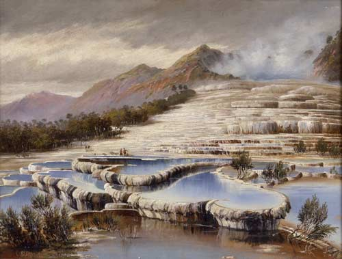 White Terraces, Lake Rotomahana, 1890