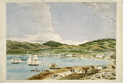 Wellington Harbour, 1841