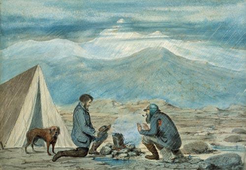 A surveyor's dog