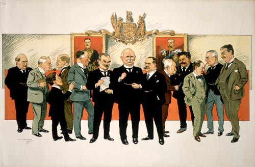 Joseph Ward and government members, 1916