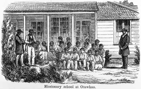 Missionary school group, Ōtāwhao