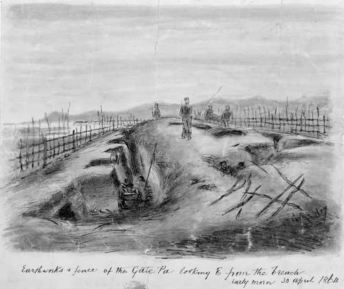 Te pā o Pukehinahina, 1864