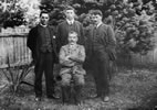 William Baucke (seated) with, from left, Frederick Bennett, Peter Buck and Tai Mitchell, 1907