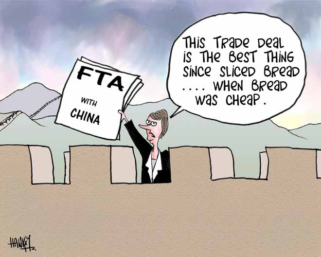 Free trade agreement with China