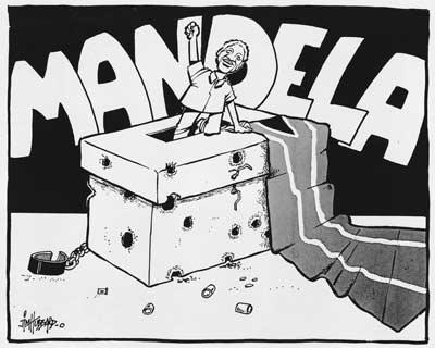 Nelson Mandela's election win, 1994