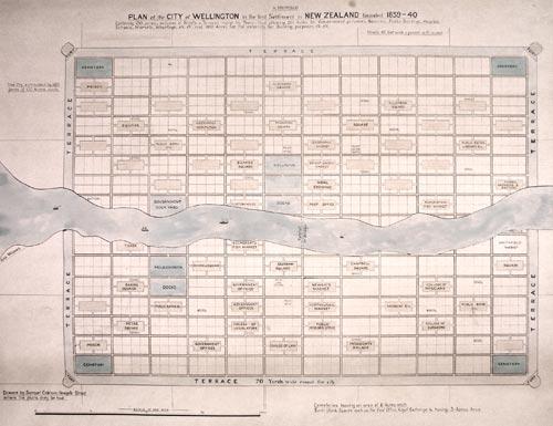 Plan of Wellington, 1840