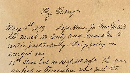 A shipboard diary