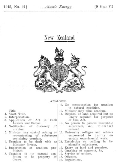 Atomic Energy Act 1945
