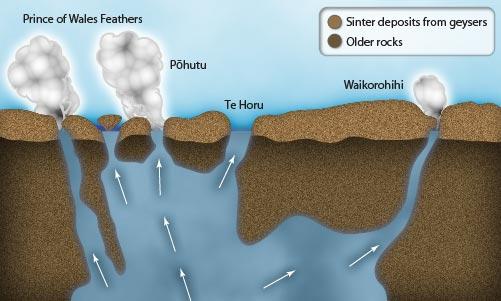 whakarewarewa geysers  this diagram shows the geothermal plumbing