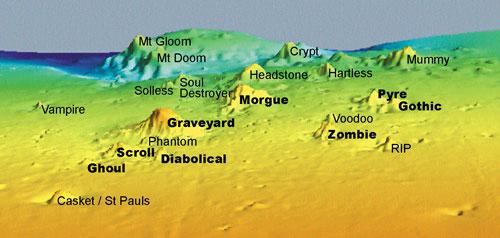 Graveyard seamounts, Chatham Rise