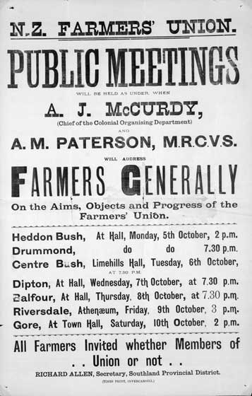 Farmers' Union meeting notice
