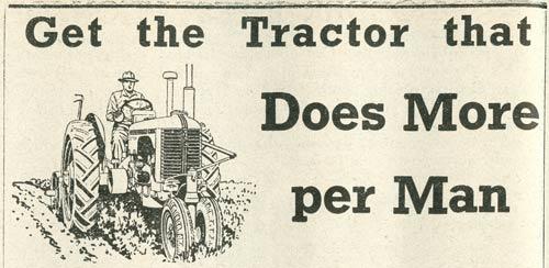 Tractor advertisement