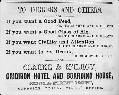 Hotel advertisement, 1864