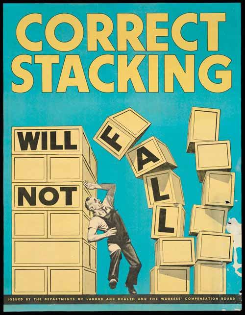 'Correct stacking' poster