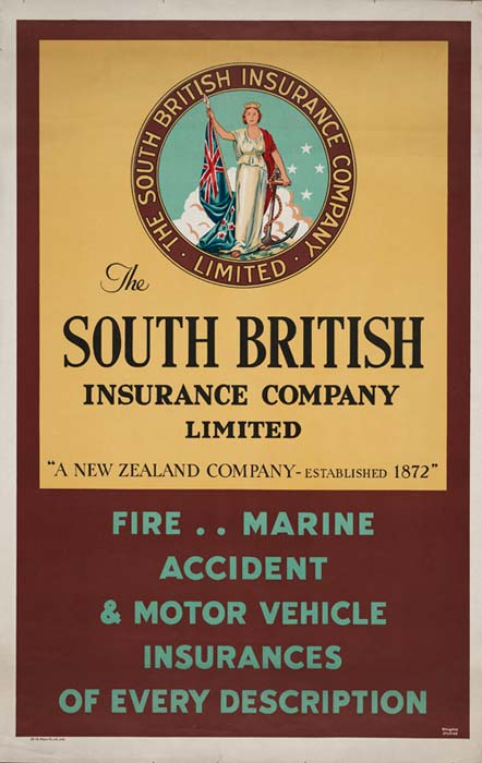 South British Insurance poster, 1950s