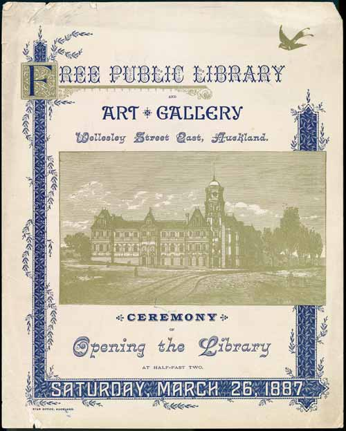 Opening of Auckland Public Library and Art Gallery, 1887