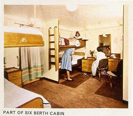 A six-berth cabin