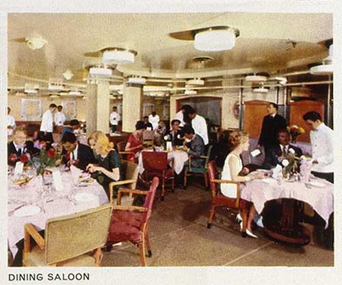 Dining saloon, Ruahine