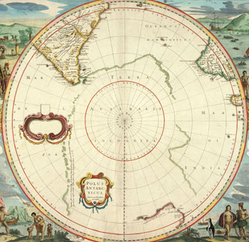 Map showing 'terra australis incognita', 1641